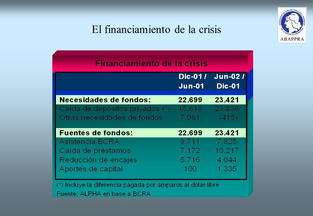 El financiamiento de la crisis