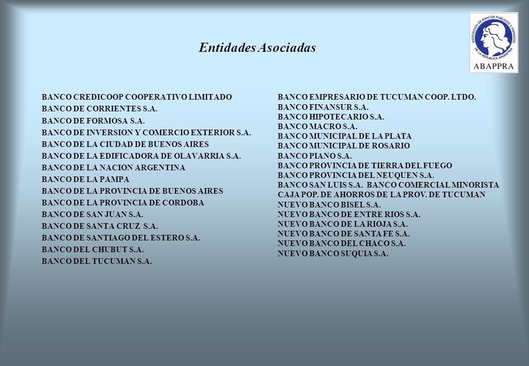 Entidades Asociadas BANCO CREDICOOP COOPERATIVO LIMITADO BANCO DE CORRIENTES S.A.