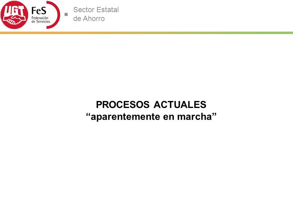 Sector Estatal de Ahorro PROCESOS ACTUALES aparentemente en marcha