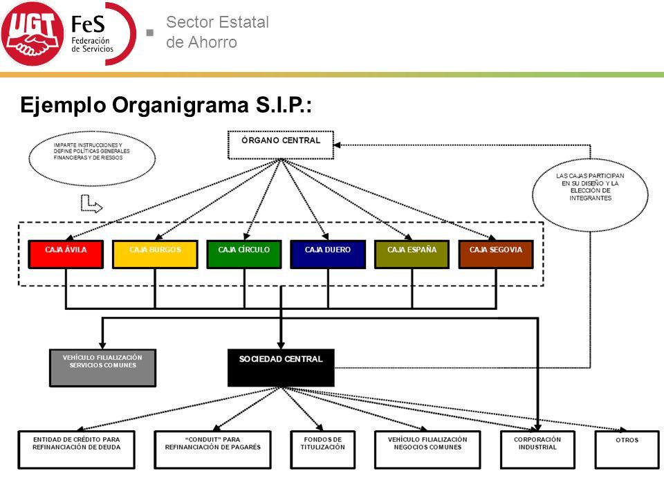 Sector Estatal de Ahorro Ejemplo Organigrama S.I.P.: