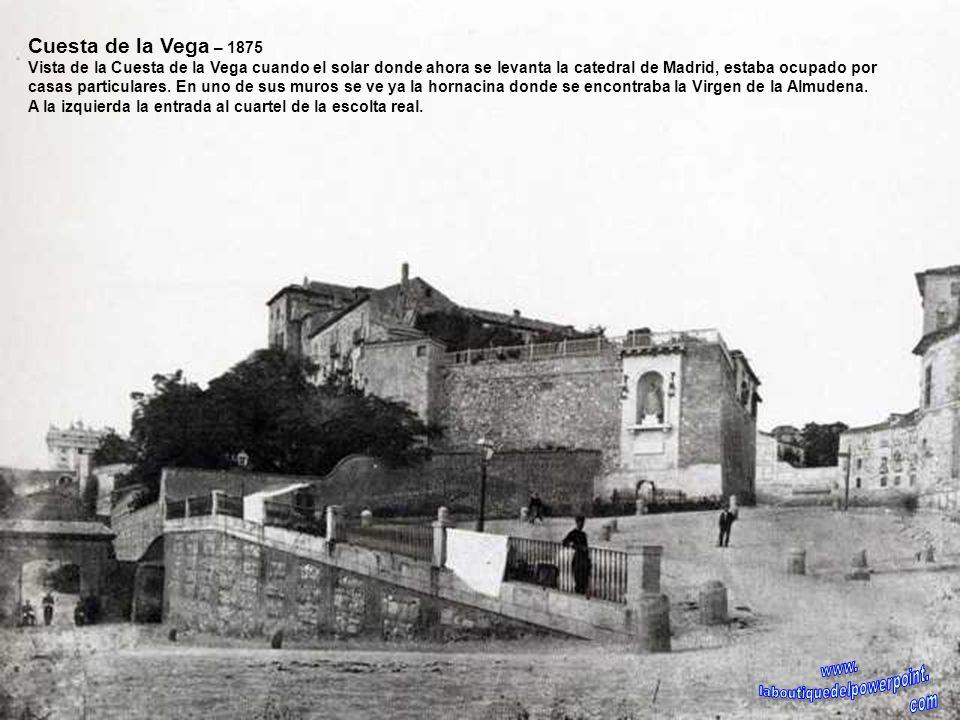 Vista de Madrid desde San Isidro – 1875 Vista de Madrid desde la pradera de San Isidro, en primer término la vega del Manzanares con los lavaderos, te