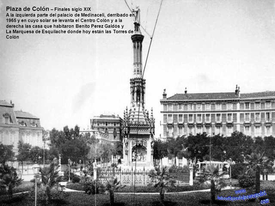 Calle de Bailén – 1913 Jardines de la calle de Bailén bautizados con el nombre de Parque de Larra, por el busto que se colocó del escritor en 1941. En
