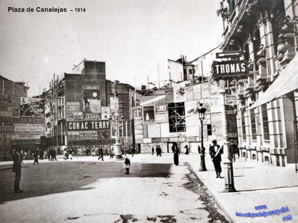 Río Manzanares – 1920 A pesar de llevar bastante agua el río Manzanares, Madrid en este año se quedó sin ella a consecuencia del hundimiento del túnel