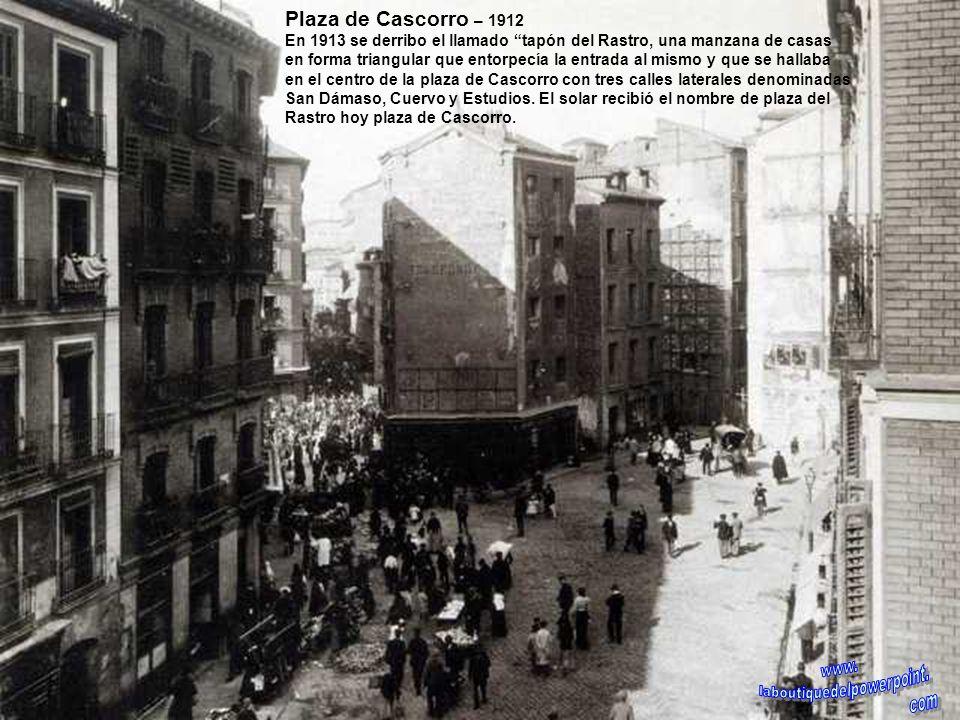 Glorieta de Quevedo – 1930 Obras para instalar el monumento a los héroes del 2 de Mayo, posteriormente se cambiaria por la estatua de Don Francisco de