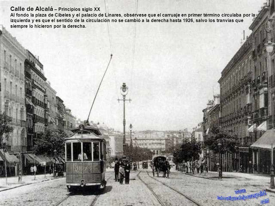 Plaza de Cascorro – 1912 En el centro aparece la fuente que había sido trasladada a este lugar, procedente del Paseo de las Delicias, actualmente desa