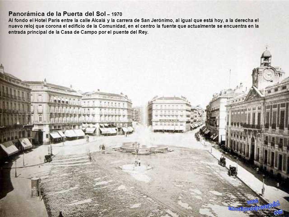 Calle de Alcalá – Principios siglo XX Al fondo la plaza de Cibeles y el palacio de Linares, obsérvese que el carruaje en primer término circulaba por