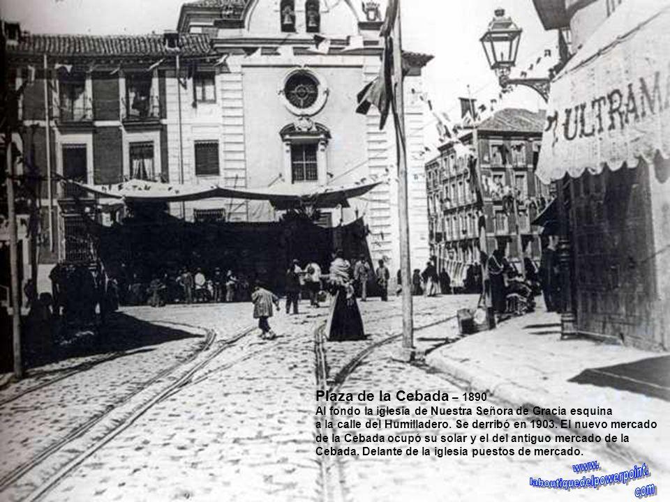 Construcción del tercer tramo de la Gran Vía – 1929 A la izquierda el edificio en construcción del cine Actualidades lugar que hoy ocupa el banco Atlá
