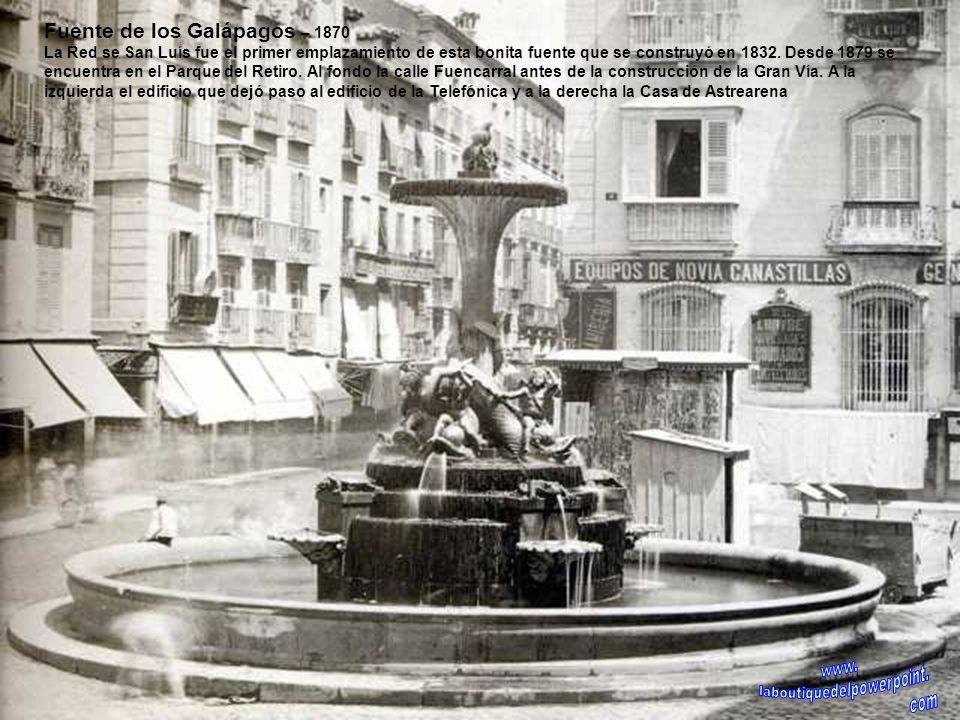 Monumento a Quevedo – 1902 Inauguración del monumento a Quevedo en la plaza de Alonso Martínez donde estuvo ubicado hasta su traslado a la glorieta de