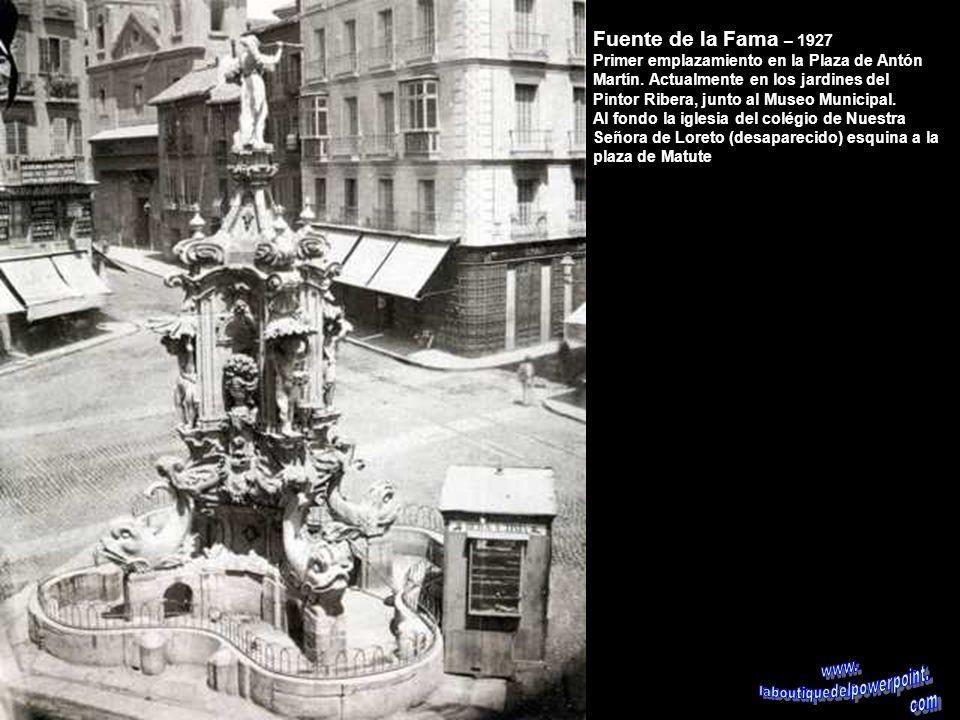 Fuente de los Galápagos – 1870 La Red se San Luís fue el primer emplazamiento de esta bonita fuente que se construyó en 1832. Desde 1879 se encuentra