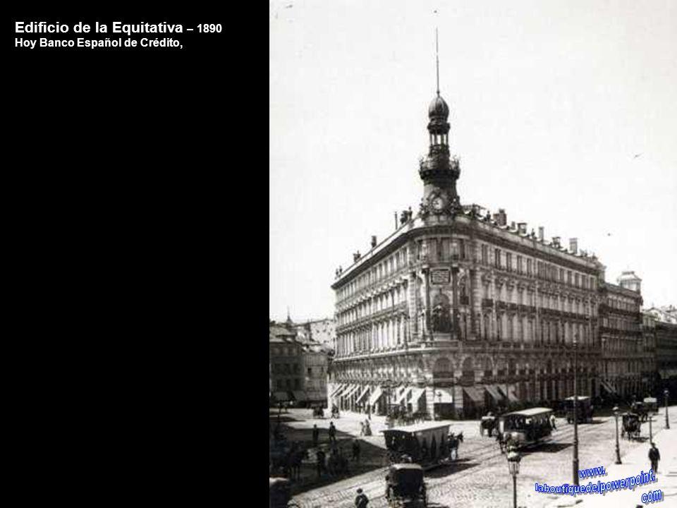 Palacio de Comunicaciones – 1930 En el solar que ocupa el edificio de Correos (construido en 1917) estuvo primeramente la Huerta de San Juan y posteri