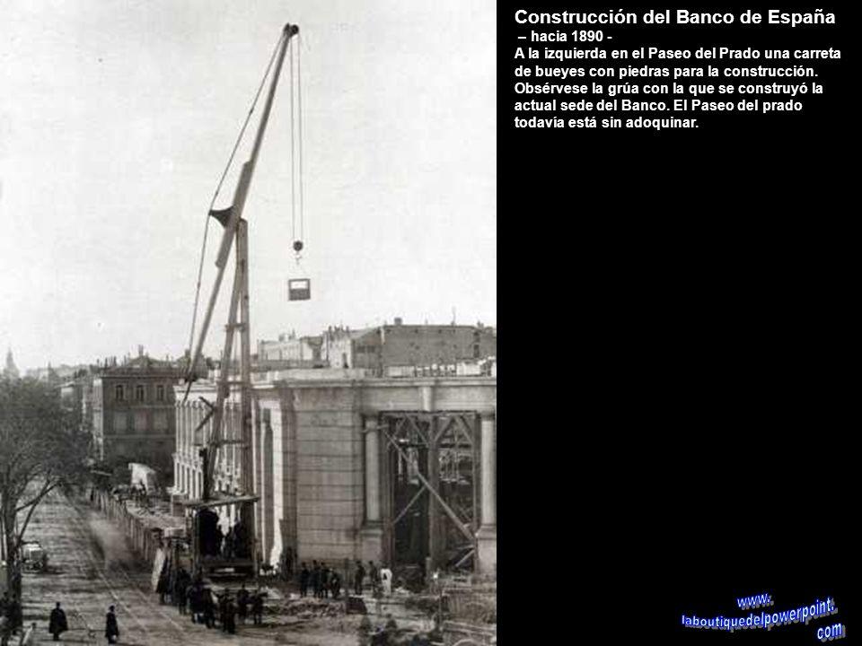Tercer depósito de agua del Canal de Isabel II – 1904 El Canal de Isabel II se inauguró en 1858 con un primer depósito situado en la calle de Bravo Mu