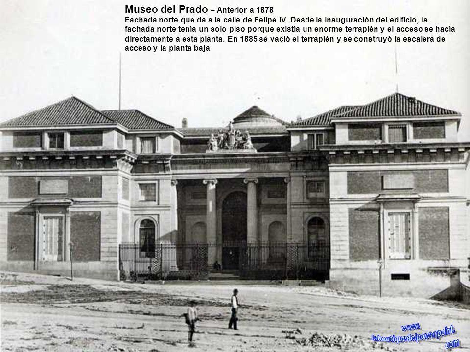 Palacio de Fomento – Finales siglo XIX Edificio del actual ministerio de Agricultura, recién construido, aún sin el grupo escultórico de Querol sobre
