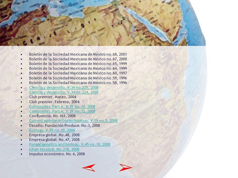 Agrociencia. V.36 no.1, 2002 Agrociencia. V.35 no.5, 2001 Agrociencia. V.35 no.4, 2001 Agrociencia. V.35 no.3, 2001 Agrociencia. V.35 no.1, 2001 Agroc