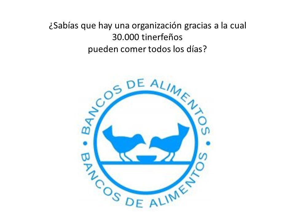 ¿Sabías que hay una organización gracias a la cual 30.000 tinerfeños pueden comer todos los días?
