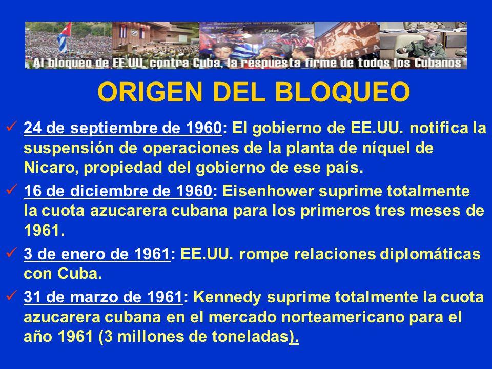 PRESIONAN A LOS BANCOS DE TERCEROS PAÍSES El 28 de julio 2006 la OFAC sancionó al Netherland Caribbean Bank, que tiene oficina en Cuba, sin explicar las razones.
