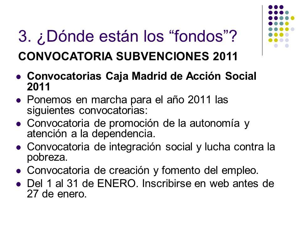 Convocatorias Caja Madrid de Acción Social 2011 Ponemos en marcha para el año 2011 las siguientes convocatorias: Convocatoria de promoción de la auton