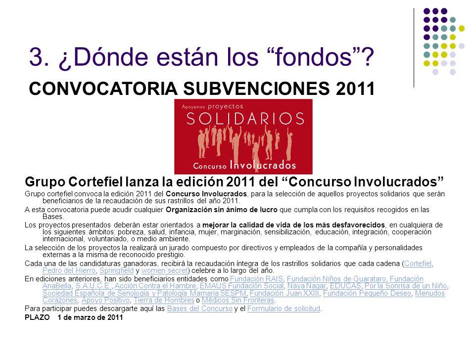 Grupo Cortefiel lanza la edición 2011 del Concurso Involucrados Grupo cortefiel convoca la edición 2011 del Concurso Involucrados, para la selección d