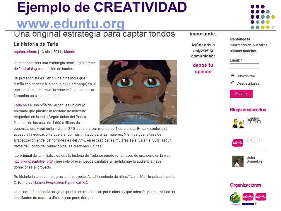 Ejemplo de CREATIVIDAD www.eduntu.org www.eduntu.org