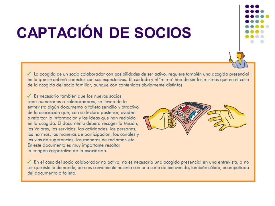 CAPTACIÓN DE SOCIOS