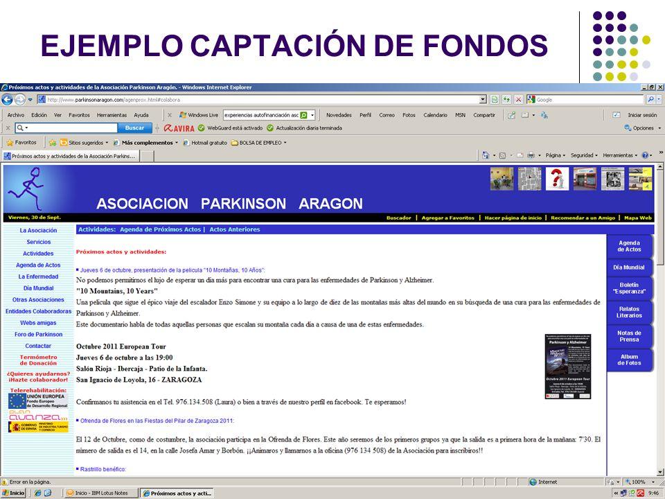 EJEMPLO CAPTACIÓN DE FONDOS