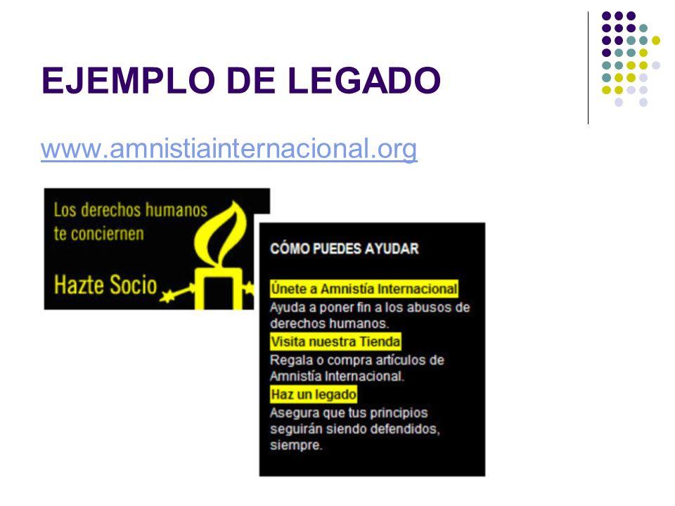 EJEMPLO DE LEGADO www.amnistiainternacional.org