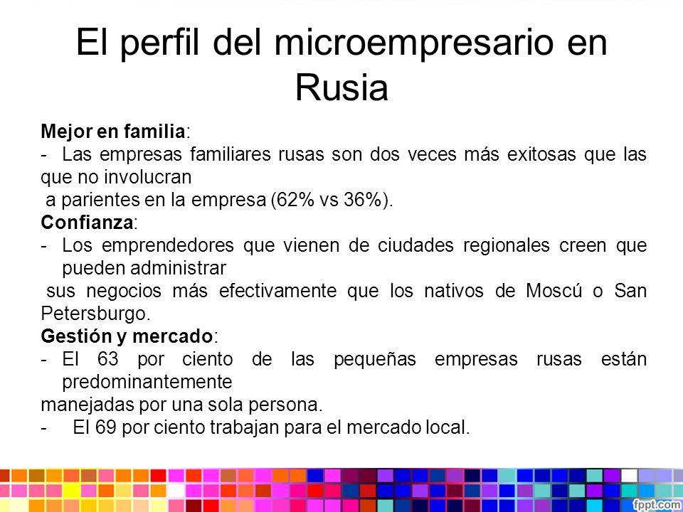 El perfil del microempresario en Rusia Mejor en familia: - Las empresas familiares rusas son dos veces más exitosas que las que no involucran a parien
