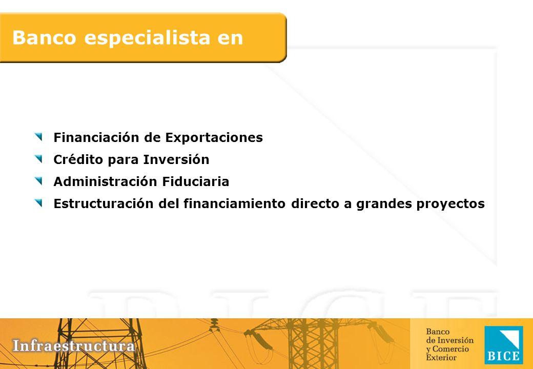 Banco especialista en Financiación de Exportaciones Crédito para Inversión Administración Fiduciaria Estructuración del financiamiento directo a grand