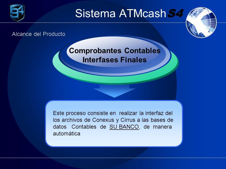 Sistema ATMcash S4 Este proceso consiste en realizar la interfaz del los archivos de Conexus y Cirrus a las bases de datos Contables de SU BANCO, de m