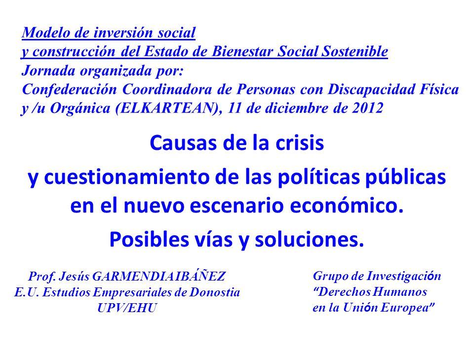 Causas de la crisis y cuestionamiento de las políticas públicas en el nuevo escenario económico.