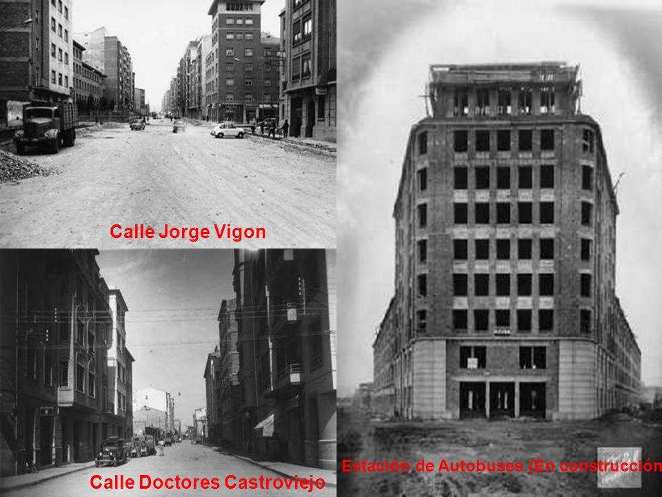 Calle Vara de Rey Banco España Vara de Rey Estatua el Labrador Gran vía ( Torre le Logroño)Gran vía (Cine Olimpia)