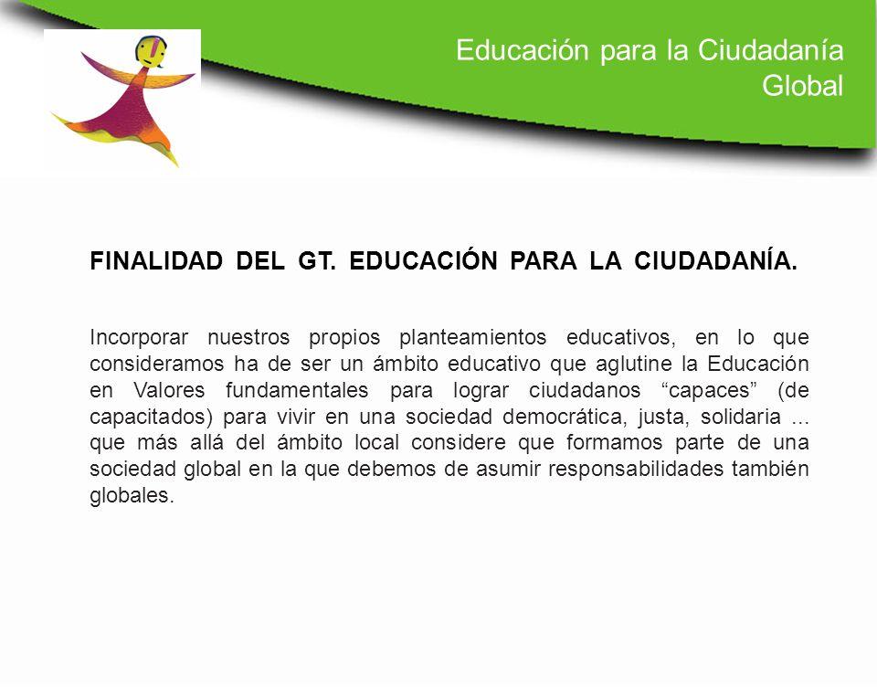 Incorporar nuestros propios planteamientos educativos, en lo que consideramos ha de ser un ámbito educativo que aglutine la Educación en Valores funda