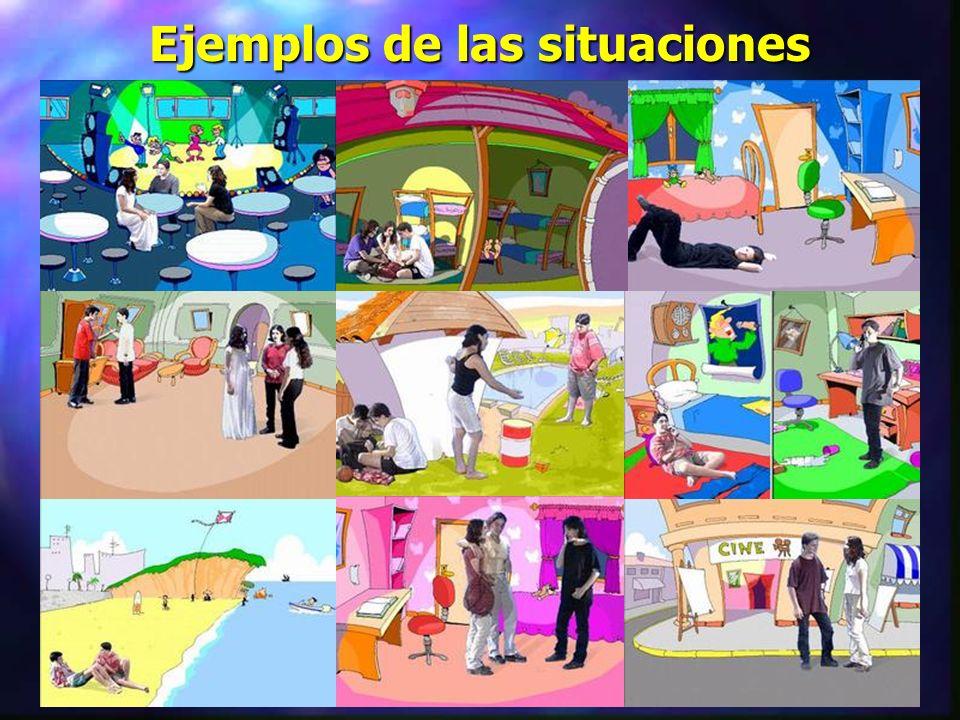 Secuencia de un taller tipo n Cada equipo de tres alumnos elige una de las situaciones que aparecen en el taller.