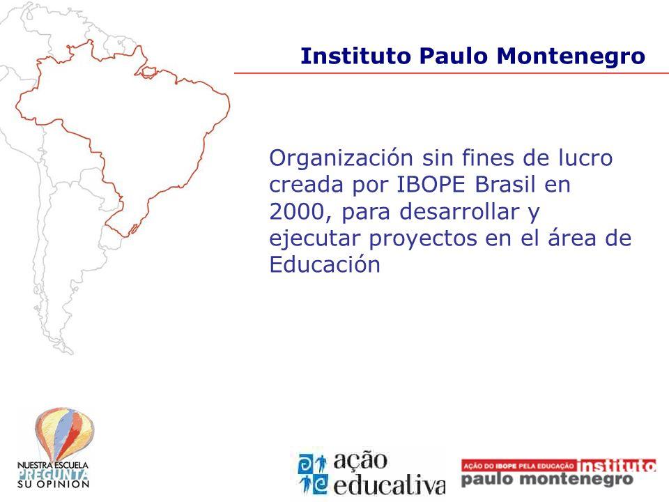 Organización sin fines de lucro creada por IBOPE Brasil en 2000, para desarrollar y ejecutar proyectos en el área de Educación Instituto Paulo Montene