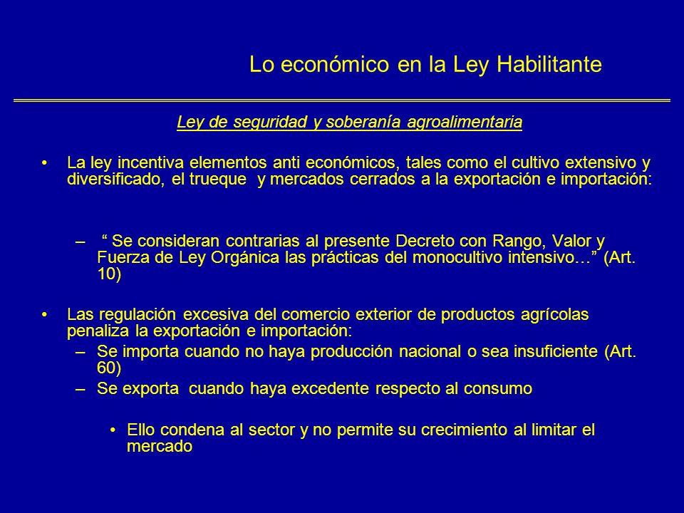 Lo económico en la Ley Habilitante Ley defensa del derecho de las personas en el acceso de los bienes y servicios Artículo 1º.