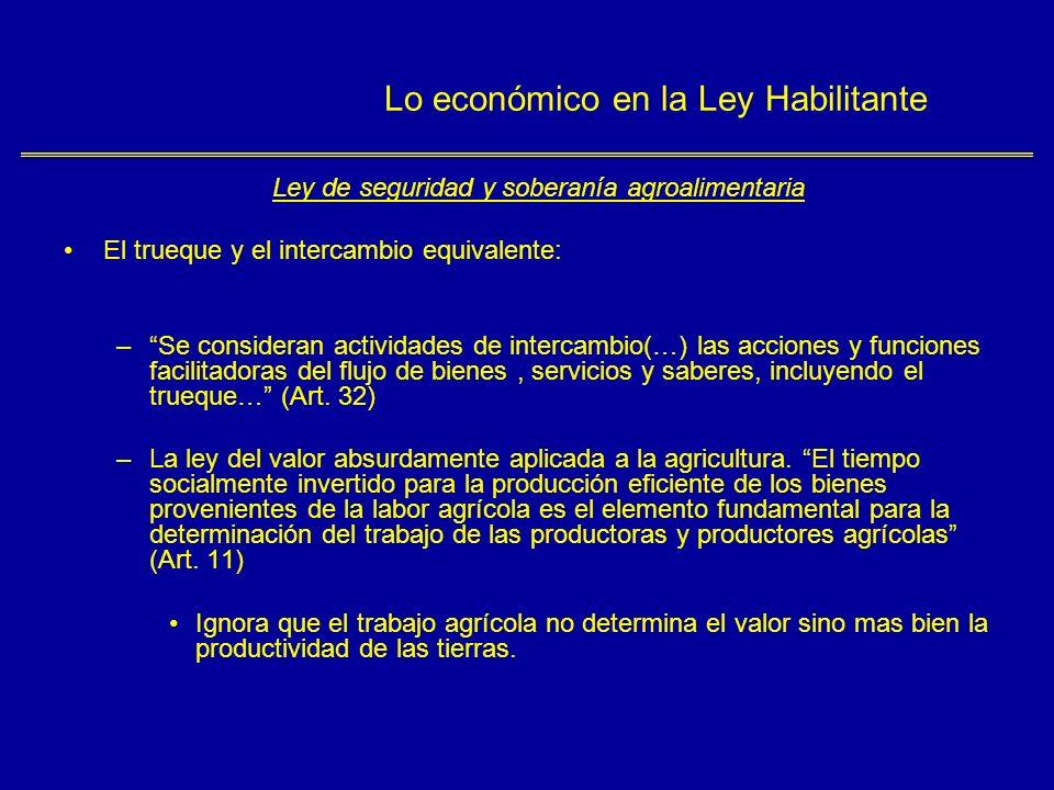 Lo económico en la Ley Habilitante Ley defensa del derecho de las personas en el acceso de los bienes y servicios Artículo 5º.