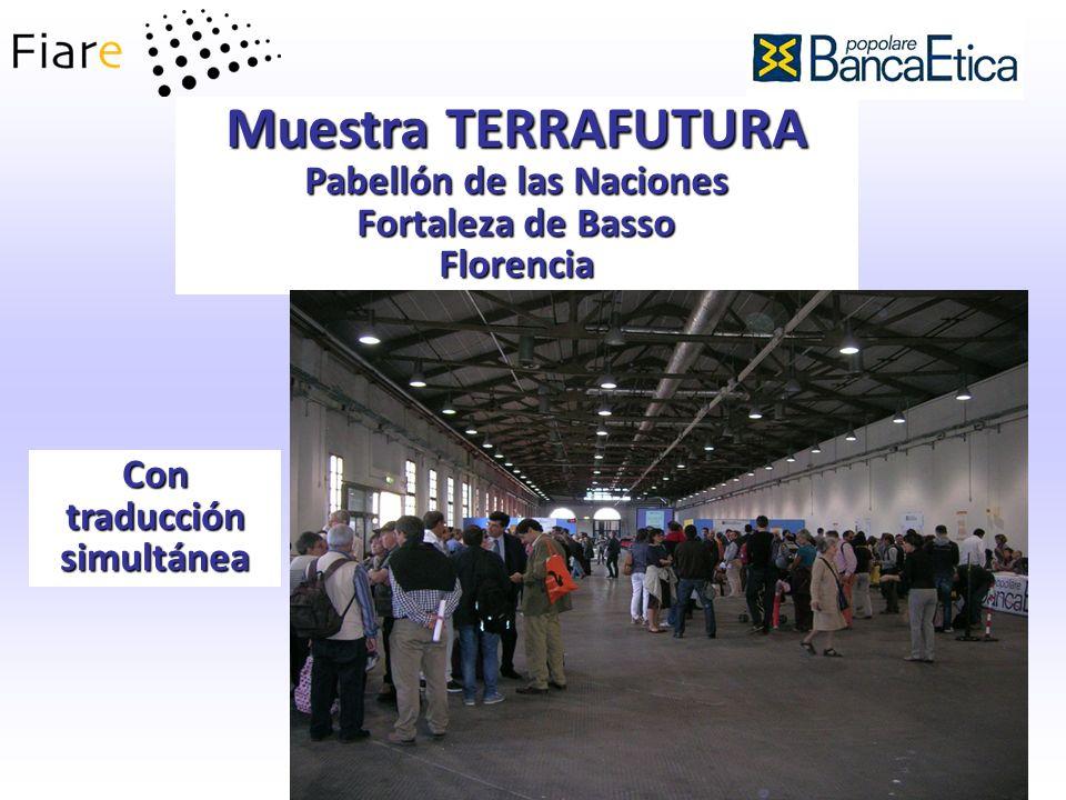 Muestra TERRAFUTURA Pabellón de las Naciones Fortaleza de Basso Florencia Con traducción simultánea