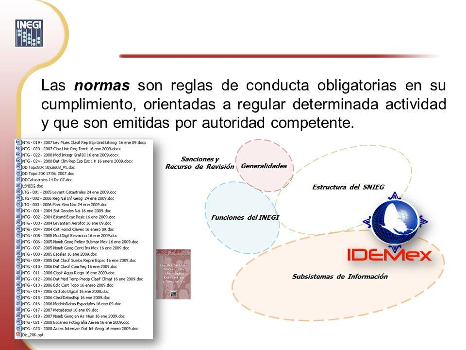 Las normas son reglas de conducta obligatorias en su cumplimiento, orientadas a regular determinada actividad y que son emitidas por autoridad compete