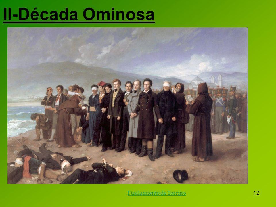 12 II-Década Ominosa Fusilamiento de Torrijos