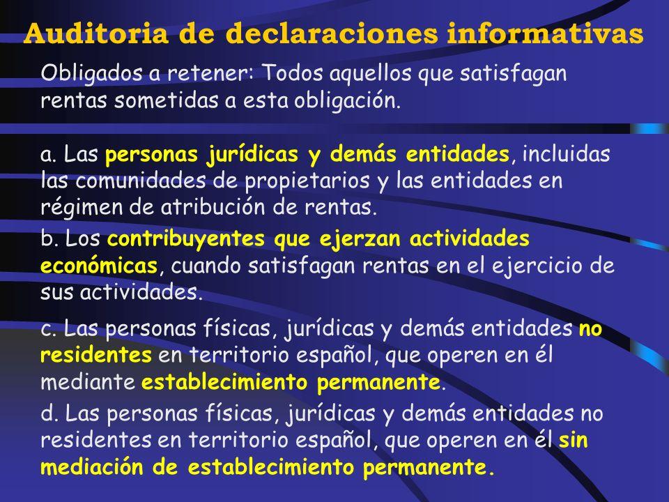 Auditoria de declaraciones informativas 9.- Los rendimientos procedentes de la devolución de la prima de emisión de acciones o participaciones y de la