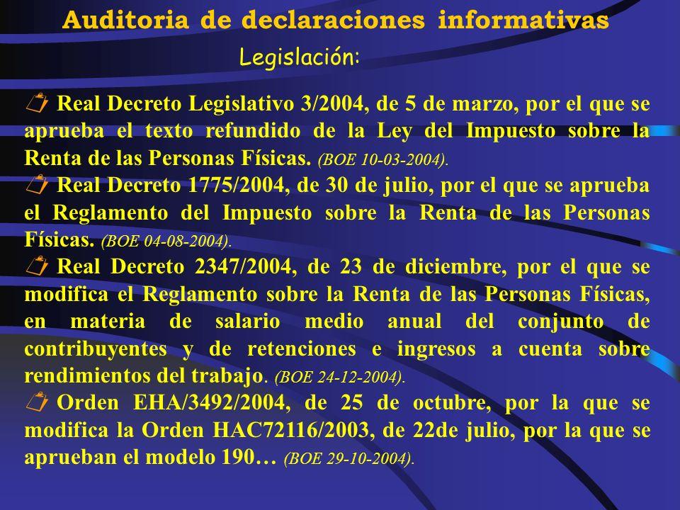 Jesús Miguel González Peñuela Delegado de la AEAT de Santa Cruz de Tenerife Santa Cruz de Tenerife, 3 de marzo de 2005 JORNADAS TÉCNICAS DE AUDITORÍA Tenerife, 3-4 de marzo de 2005 Auditoria de Declaraciones Informativas Salarios En Especie Ministerio de Economía y Hacienda.