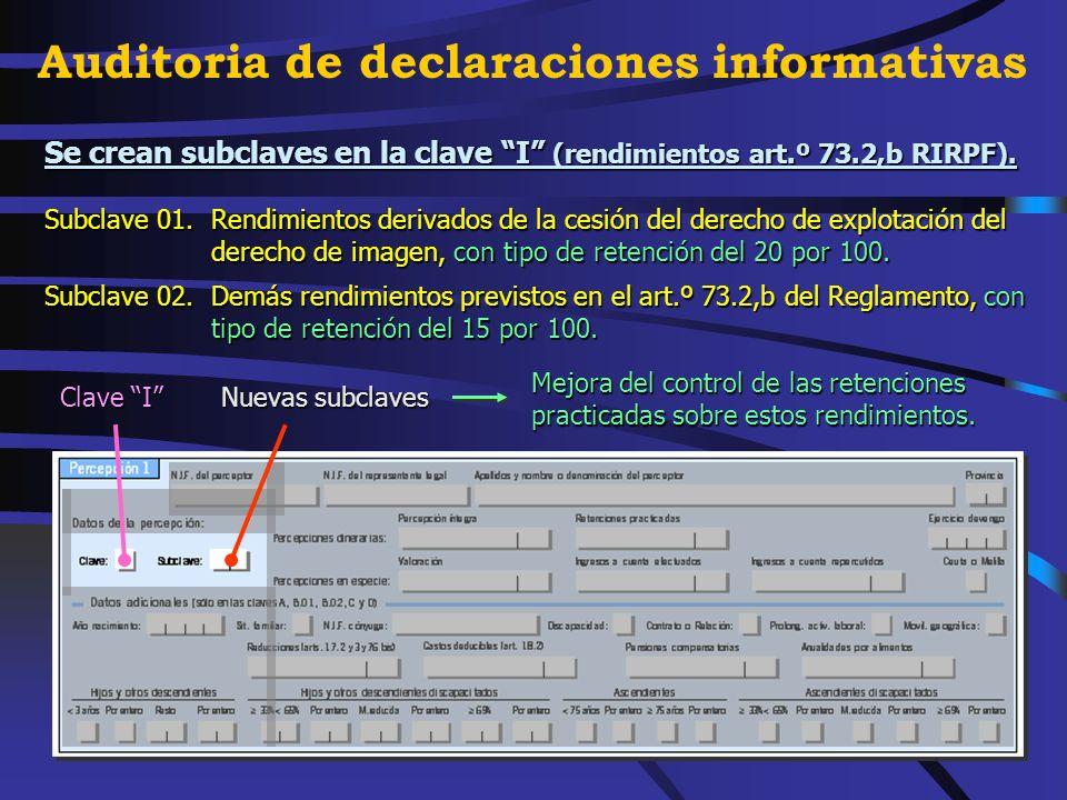 Nueva subclave de la clave G (actividades profesionales). Subclave 03.Rendimientos de actividades profesionales de nuevo inicio con derecho al tipo de
