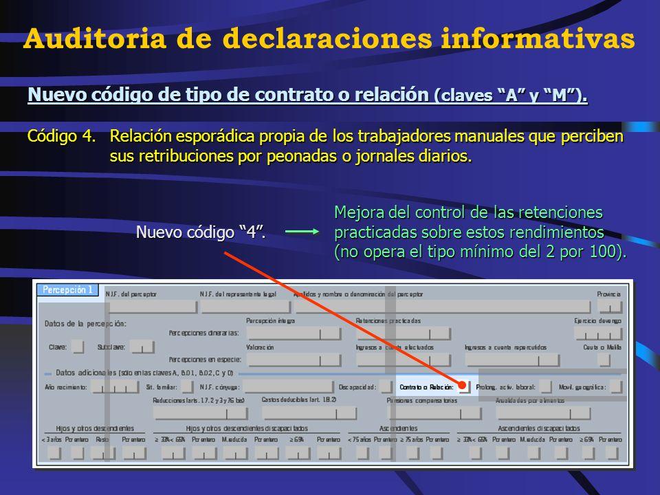 Texto explicativo de tres subclaves de la clave L (rentas exentas).