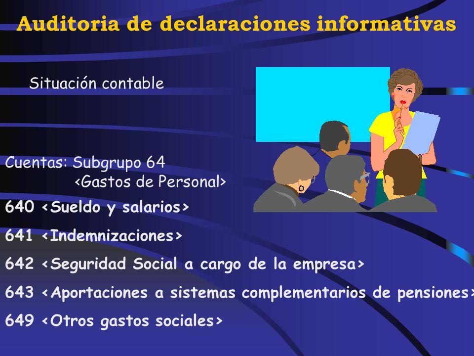 Auditoria de declaraciones informativas Artículo 17.