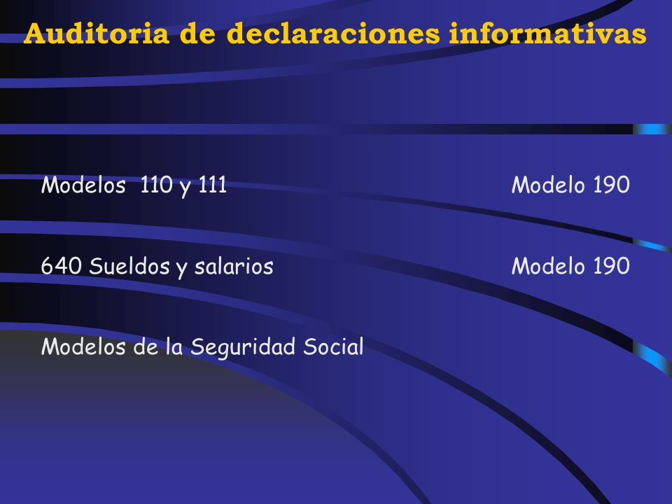 Auditoria de declaraciones informativas Conciliación: declaraciones informativas declaraciones otras Administraciones Seguridad Social declaración Imp