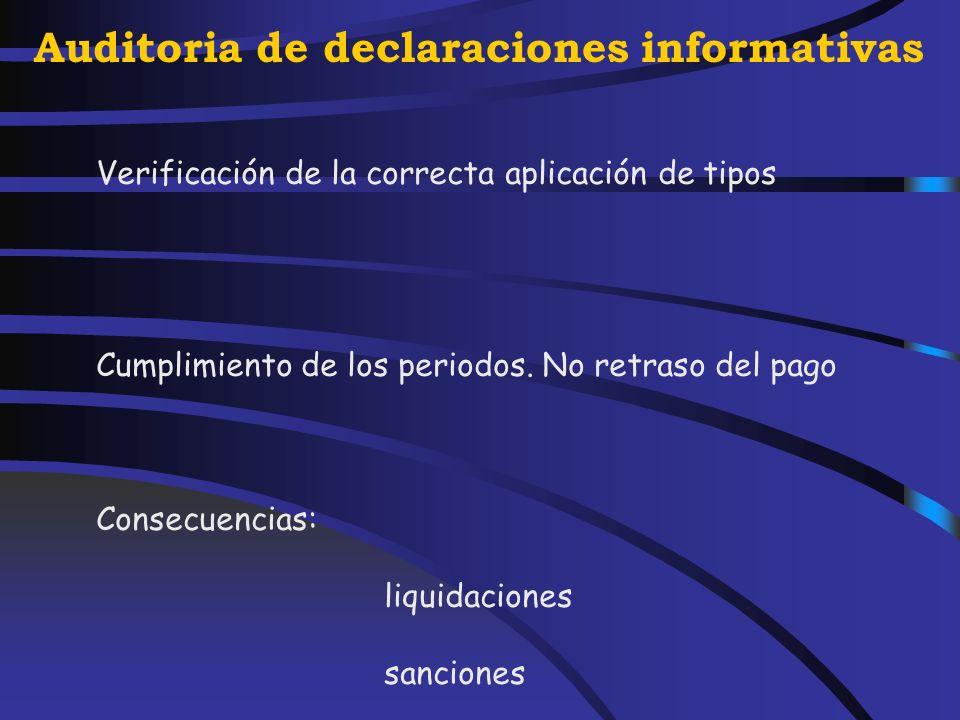 Auditoria de declaraciones informativas Modelos 110 y 111Modelo 190 640 Sueldos y salariosModelo 190 Modelos de la Seguridad Social