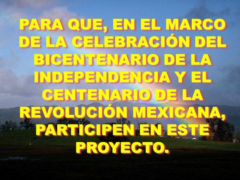 Les presentaré las líneas directrices del PROYECTO CC-IXTLÁN 2010, con el cual propongo la creación de un MONUMENTO VIVIENTE al Benemérito de las Américas en su región natal.