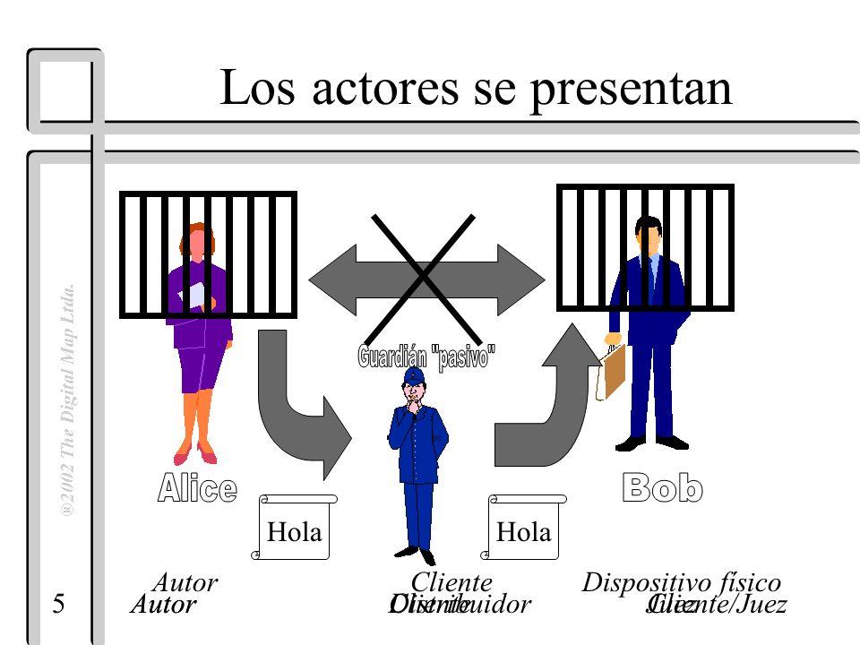5 ®2002 The Digital Map Ltda. AutorDistribuidorCliente/Juez Hola AutorClienteJuez Los actores se presentan Autor ClienteDispositivo físico