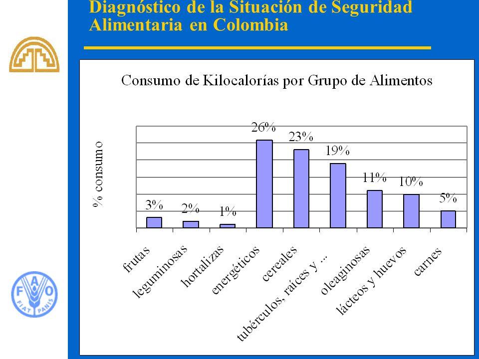 16 Diagnóstico de la Situación de Seguridad Alimentaria en Colombia