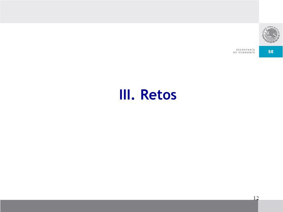 12 III. Retos