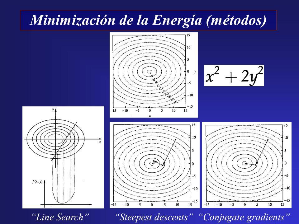 Minimización de la Energía (métodos) Line SearchSteepest descentsConjugate gradients